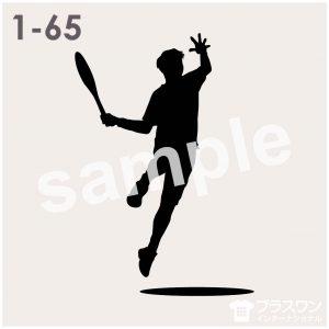 テニスプレーヤーのシルエット素材