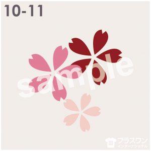 和風 桜の花のイラスト素材