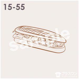 パン(パニーニ、サンドイッチ)のイラスト素材