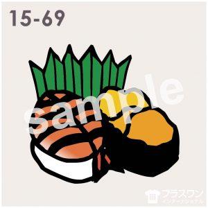 海老(エビ)とウニのお寿司のイラスト素材