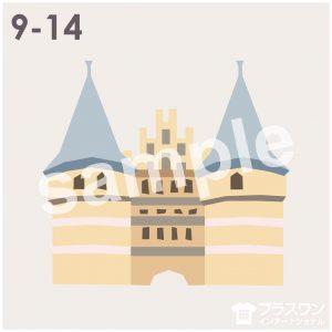 お城(西洋)のイラスト素材