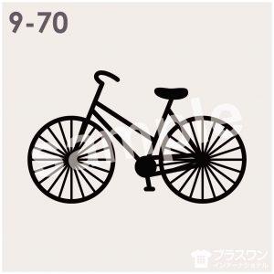 自転車のシルエット素材