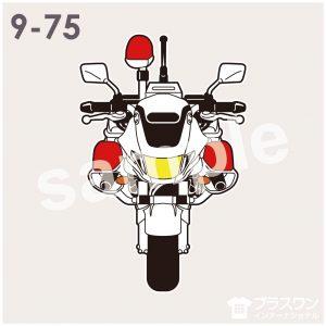 白バイのイラスト素材 バイク