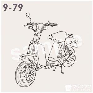 バイク(スクーター)のイラスト素材