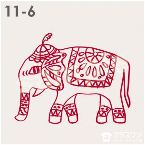 エスニックな象(ゾウ)のイラスト素材