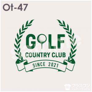 シンプルで使いやすい、ゴルフデザイン素材