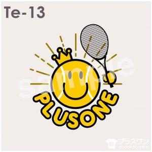 スマイルマークがポップでかわいい、テニスデザイン素材