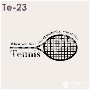 シンプルなテニスデザイン素材