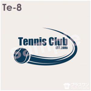 シンプルで使いやすいテニスロゴ素材